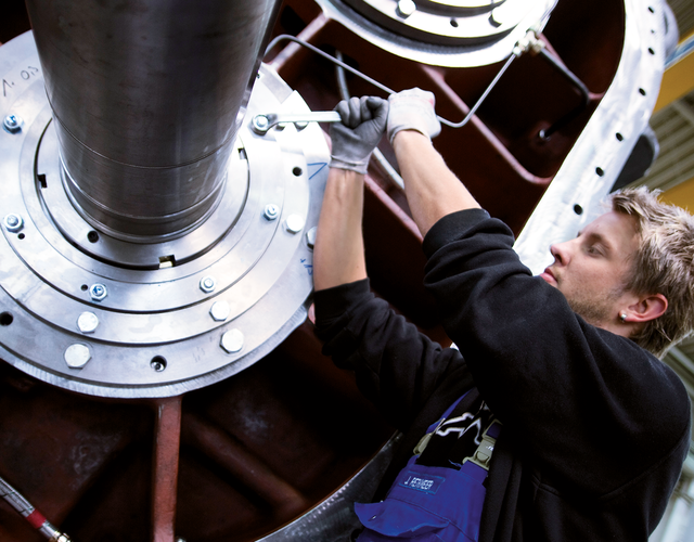 AERZEN technician works on a high quality AERZEN unit