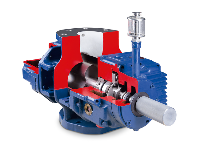 The air-cooled blower GMa 10.2 HV works with vertical direction of flow