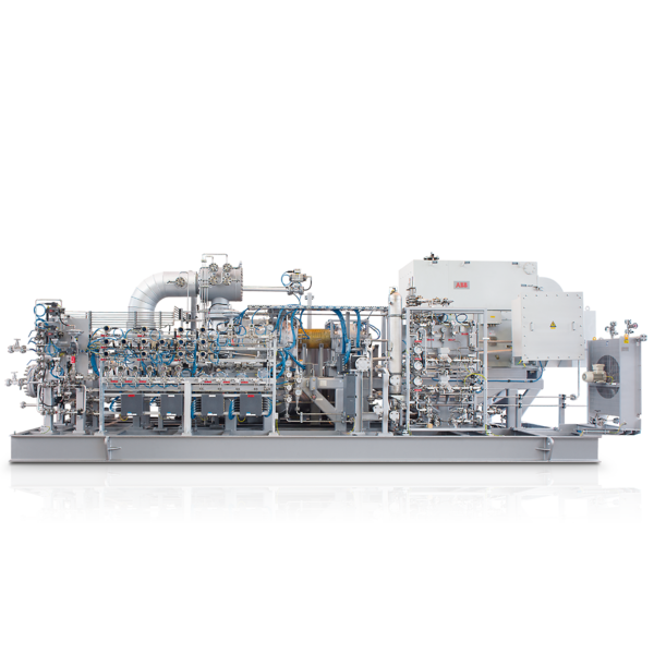 Oil-injected screw compressors VMY536M series (lateral view)