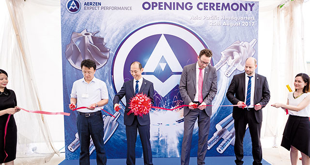 inauguration of the Aerzen Asia site
