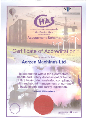 Contractor Health and Safety Certificate