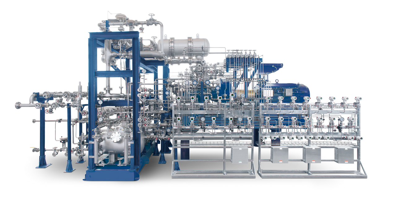 Oil-free screw compressor VRA units