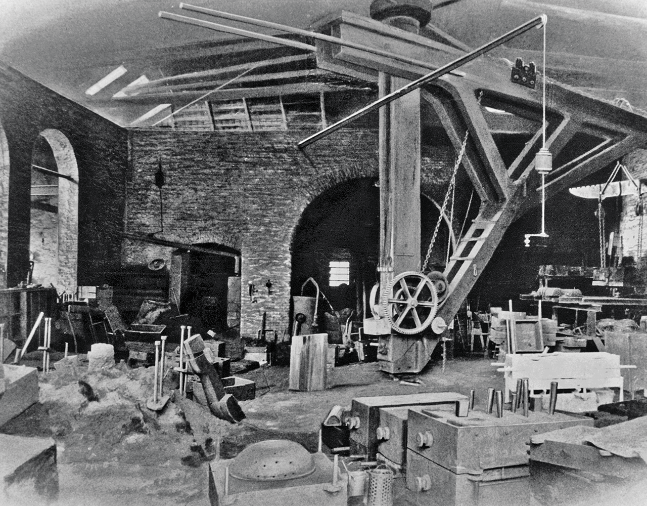 the castings for machines made in Aerzen were produced in the factory's own iron foundry