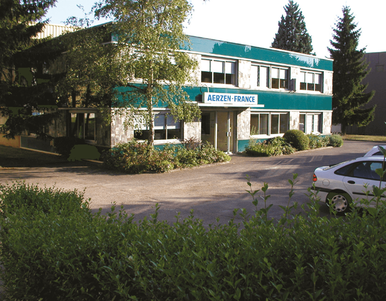 Picture of the building of the 1969 founded first foreign subsidiary company of AERZEN