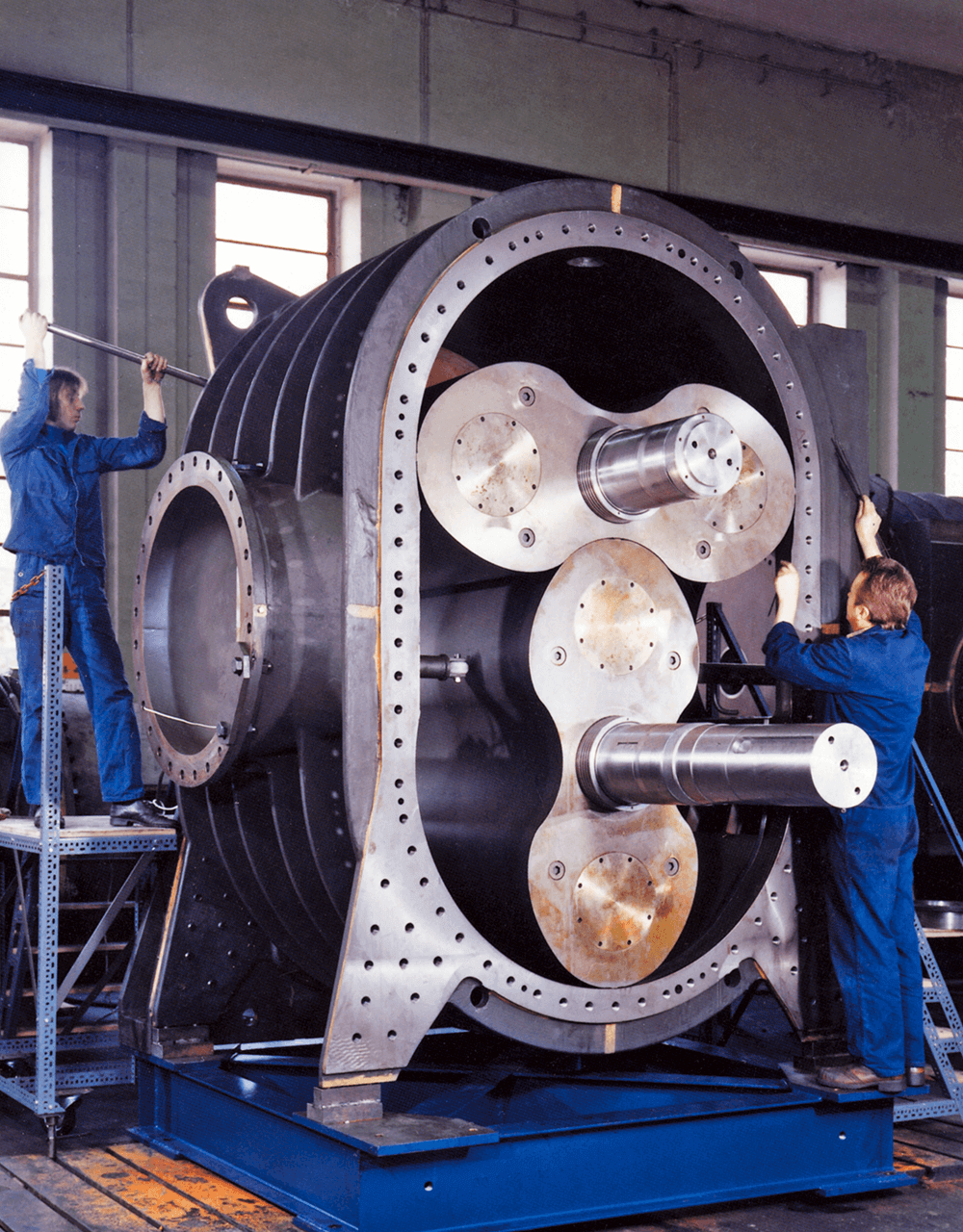 A large AERZEN positive displacement blower for the steel production
