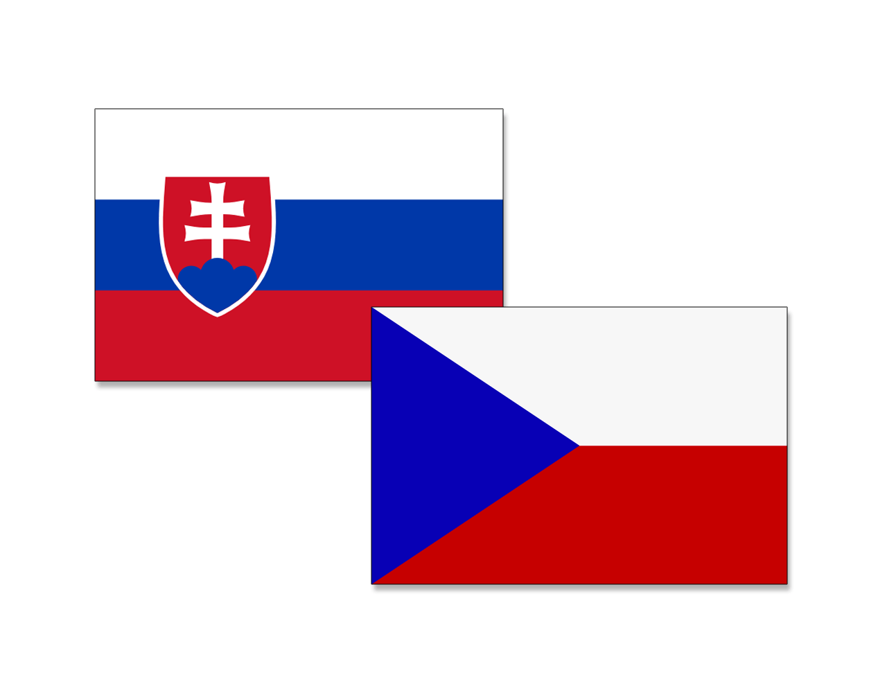 The flags of Slovenia & Czechia