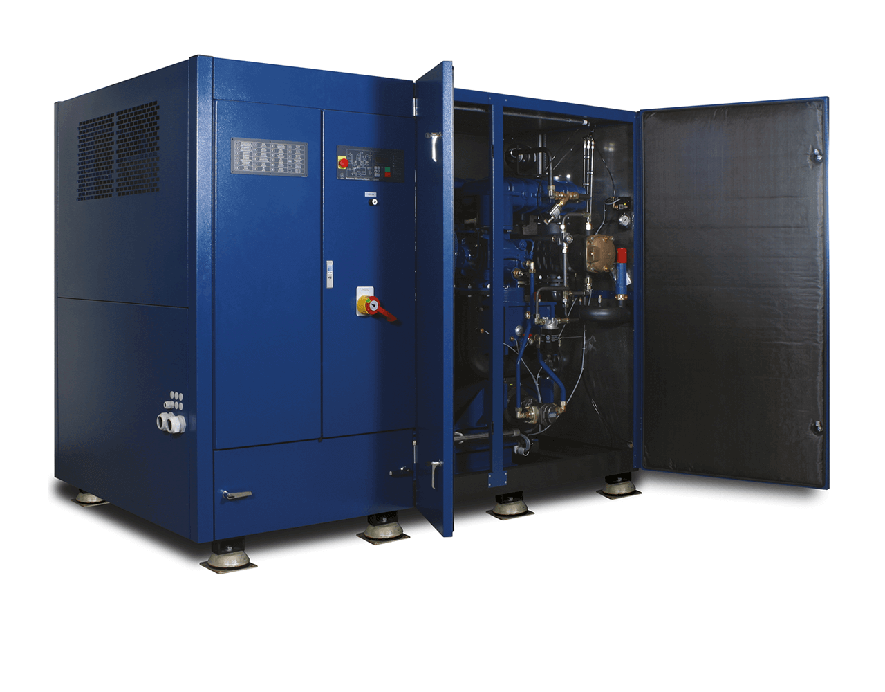 Picture of the new compressed air compressor series DELTA TWIN