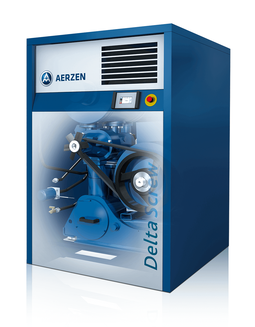 Picture of the new Delta Screw Generation 5 Plus - an energy efficient development of screw compressor series Delta Screw Generation 5