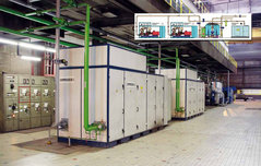 Two compressed-air unit installation with two AERZEN Delta Twin at the Luxembourg plant of ArcelorMittal