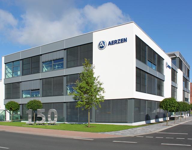 Den nye administrasjonsbygningen i vår hjemby AERZEN